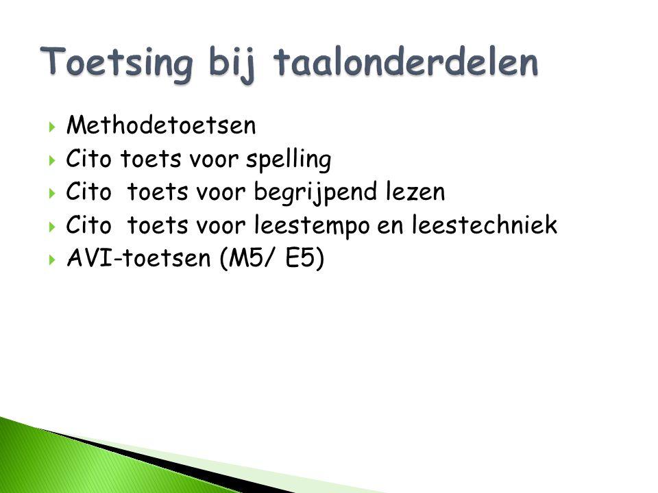 Toetsing bij taalonderdelen