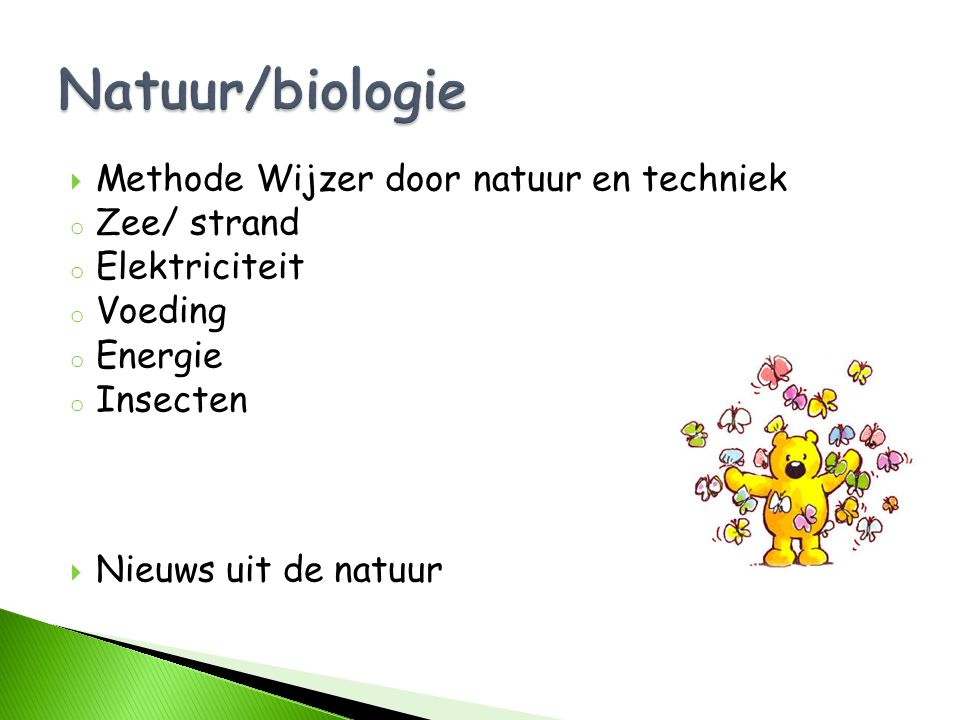 Natuur/biologie Methode Wijzer door natuur en techniek Zee/ strand