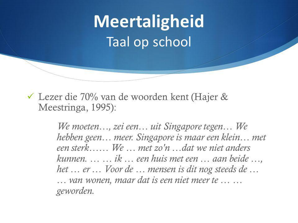 Meertaligheid Taal op school