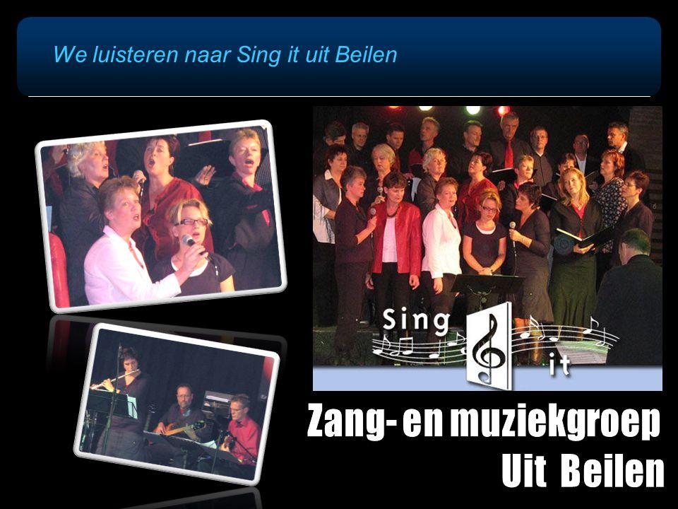 We luisteren naar Sing it uit Beilen