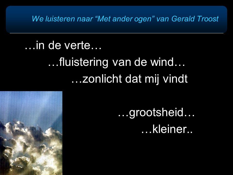 We luisteren naar Met ander ogen van Gerald Troost