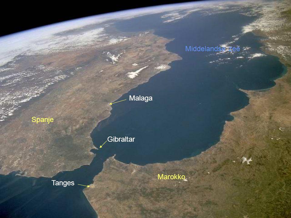 Middelandse zee Malaga Spanje Gibraltar Marokko Tanges