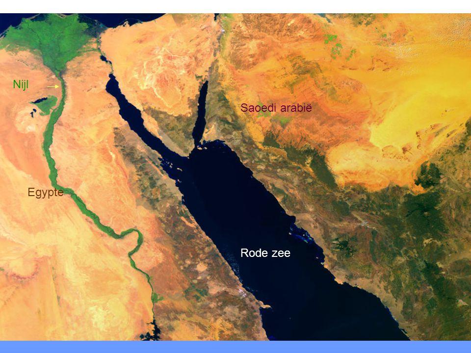 Nijl Saoedi arabië Egypte Rode zee