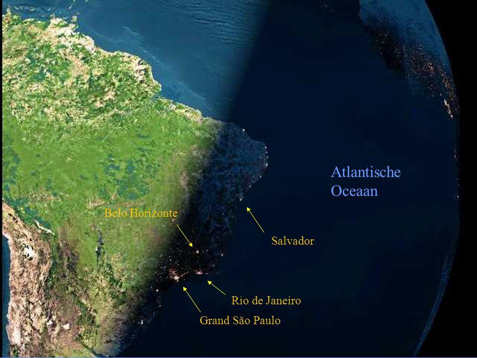 Atlantische Oceaan Belo Horizonte Salvador Rio de Janeiro