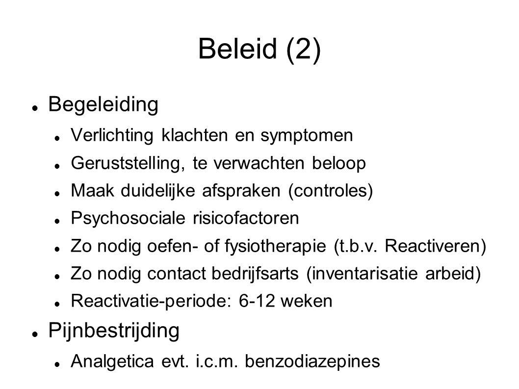 Beleid (2) Begeleiding Pijnbestrijding