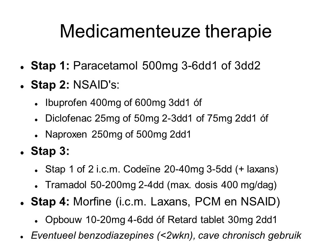 Medicamenteuze therapie