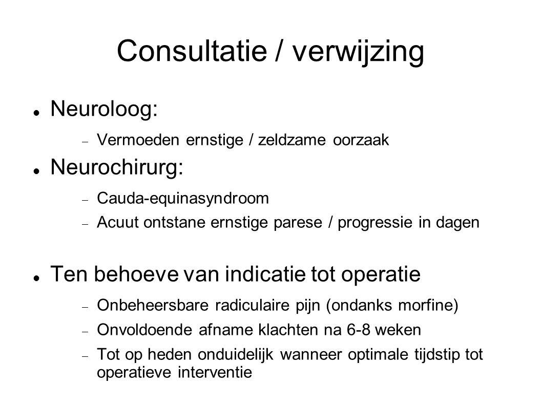 Consultatie / verwijzing