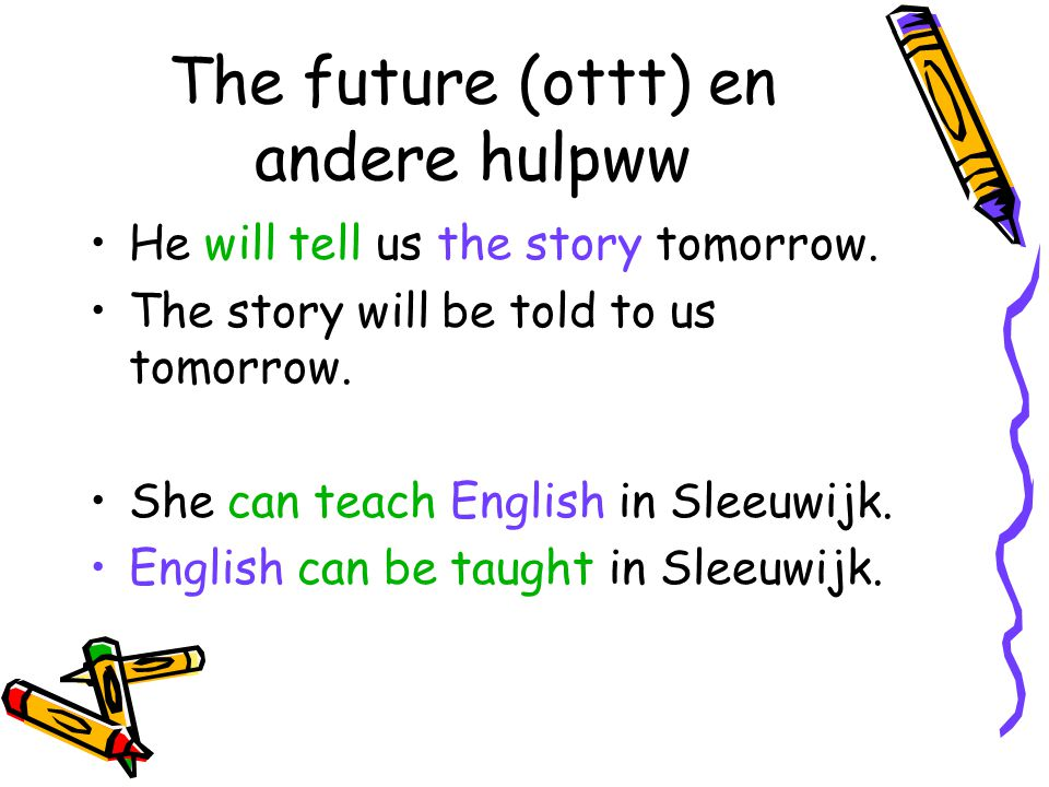 The future (ottt) en andere hulpww
