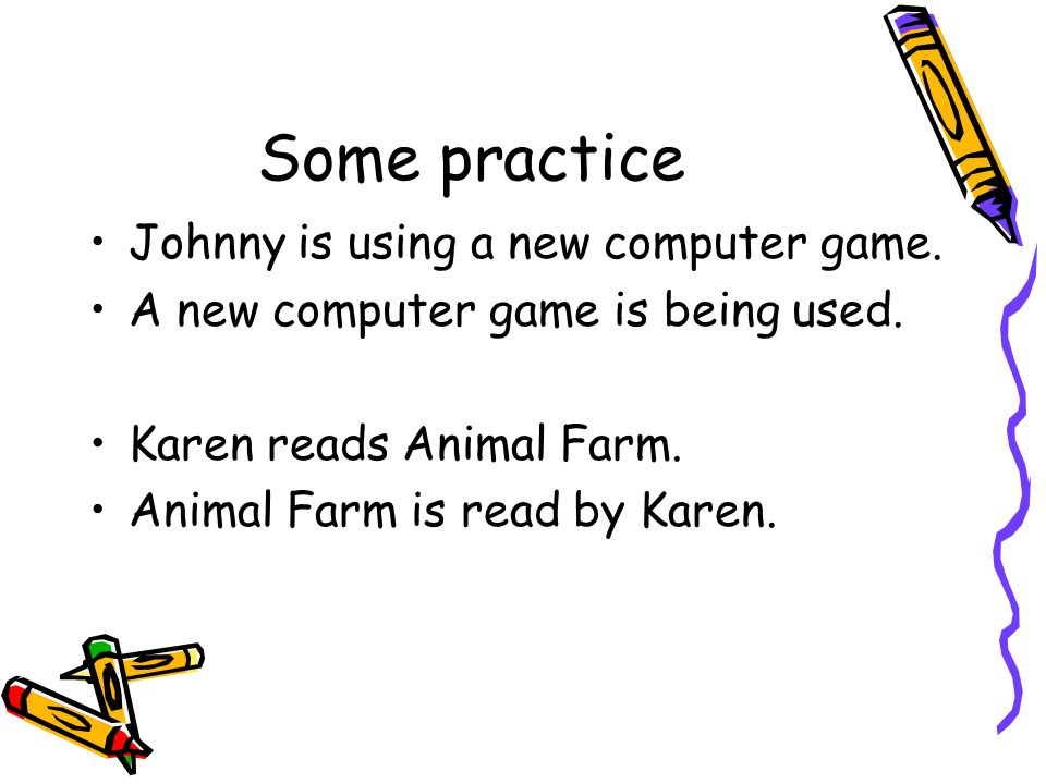 Some practice Johnny is using a new computer game.
