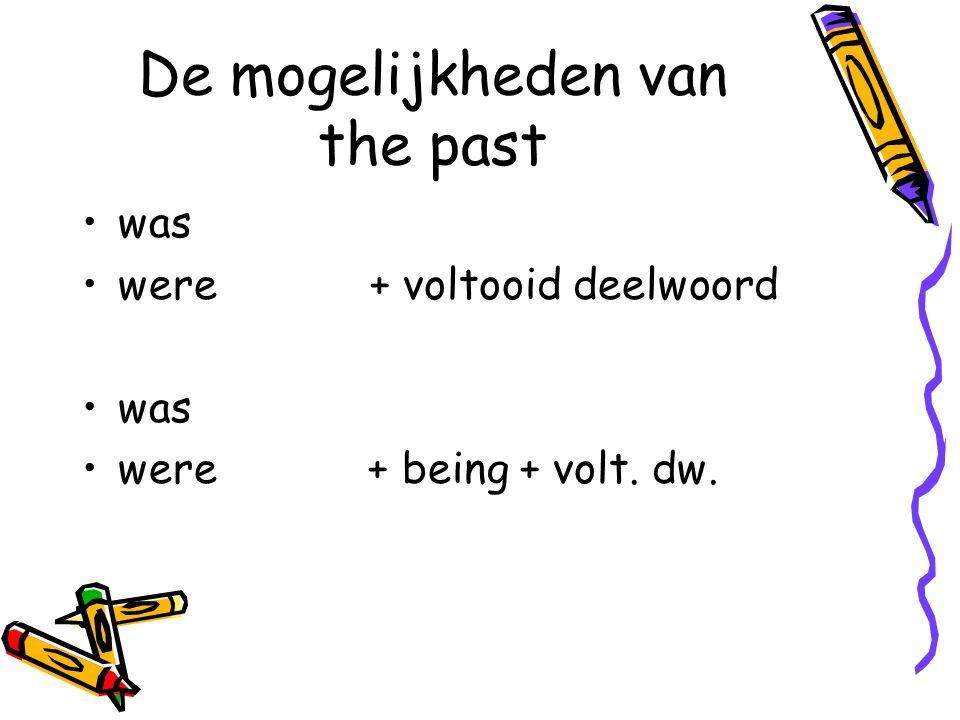 De mogelijkheden van the past