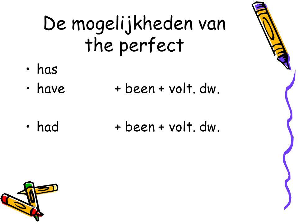De mogelijkheden van the perfect