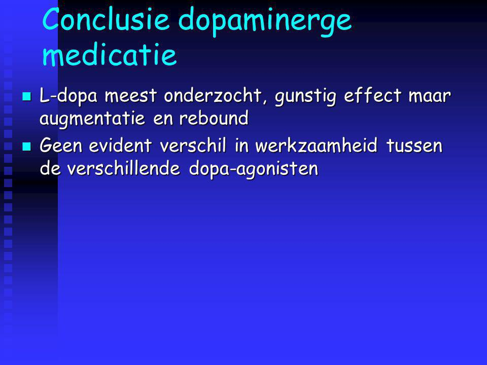 Conclusie dopaminerge medicatie