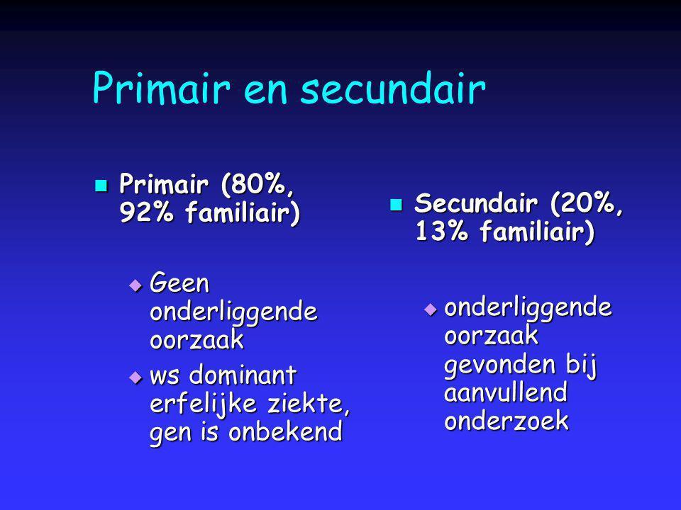 Primair en secundair Primair (80%, 92% familiair)
