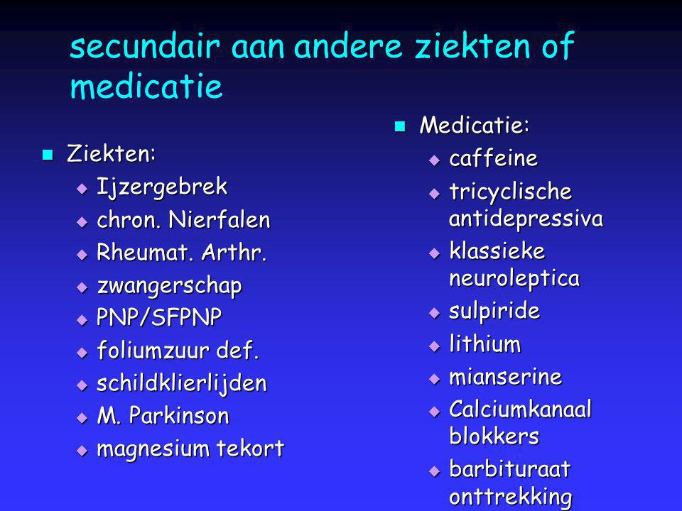 secundair aan andere ziekten of medicatie