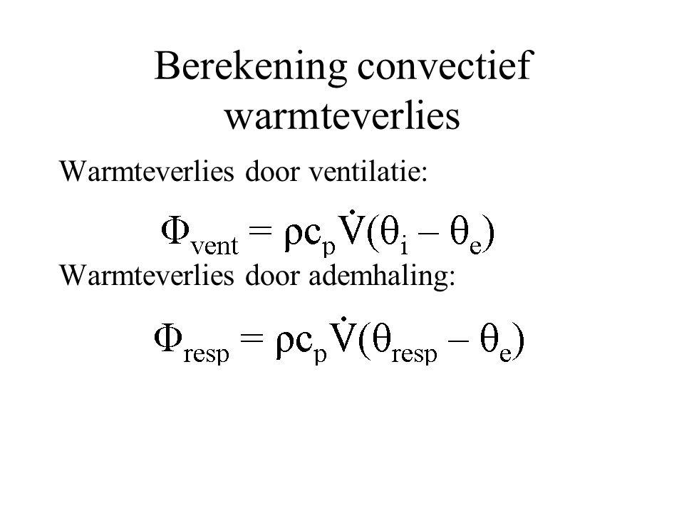 Berekening convectief warmteverlies