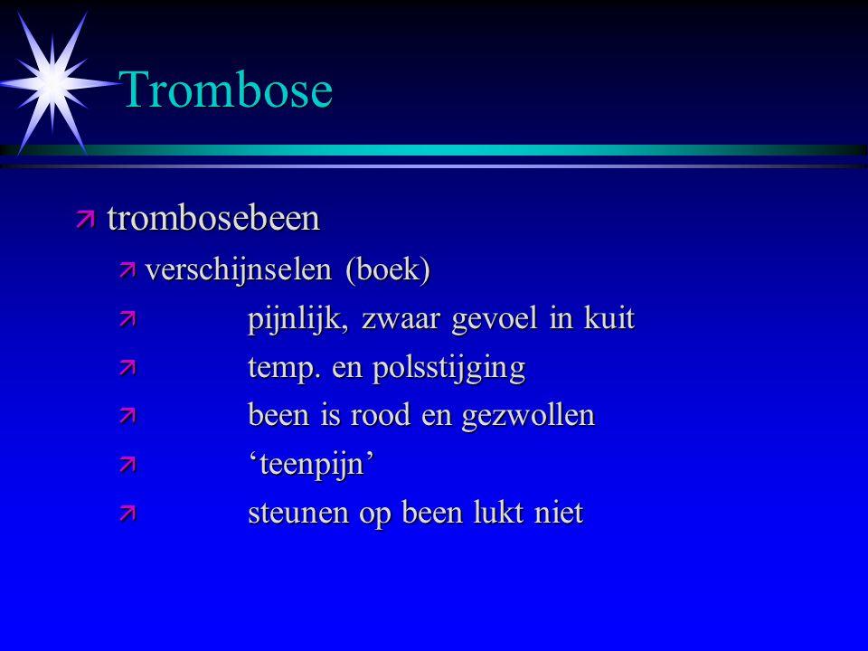 Trombose trombosebeen verschijnselen (boek)