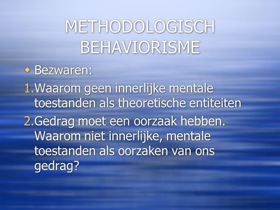 METHODOLOGISCH BEHAVIORISME