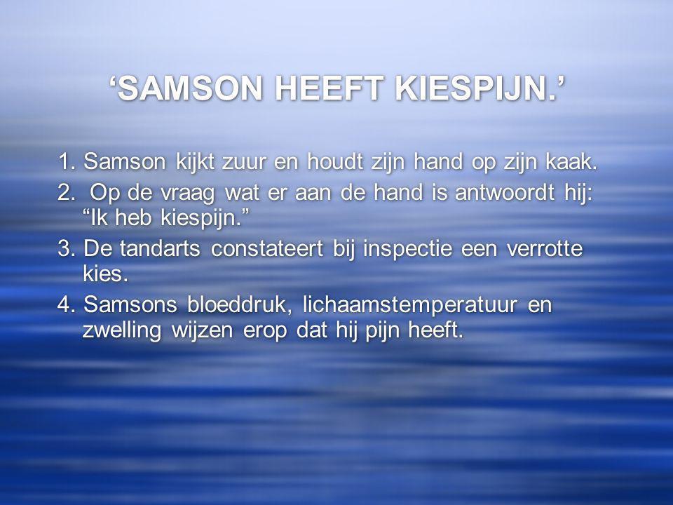 'SAMSON HEEFT KIESPIJN.'