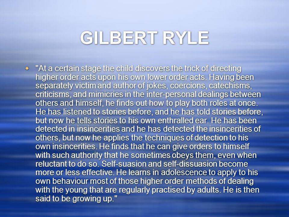 GILBERT RYLE