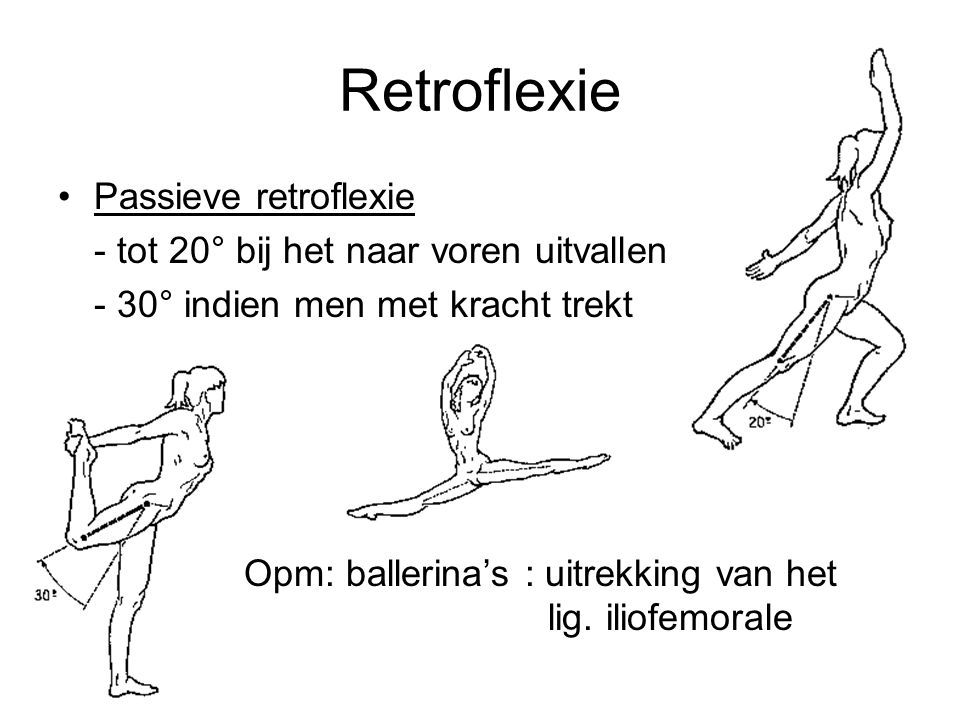 Retroflexie Passieve retroflexie
