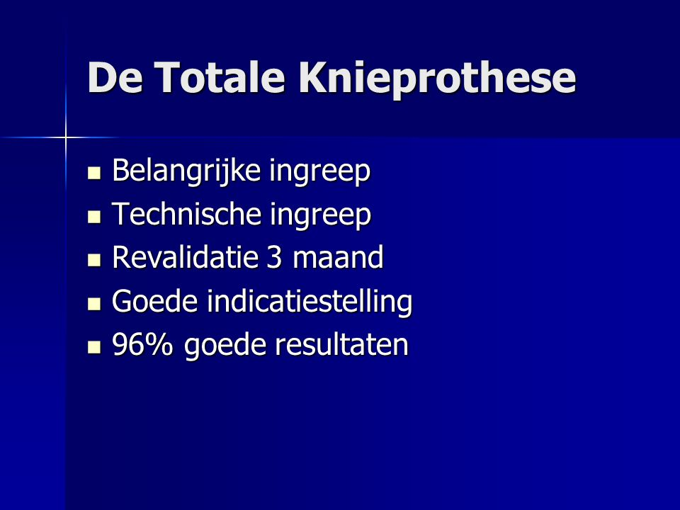 De Totale Knieprothese