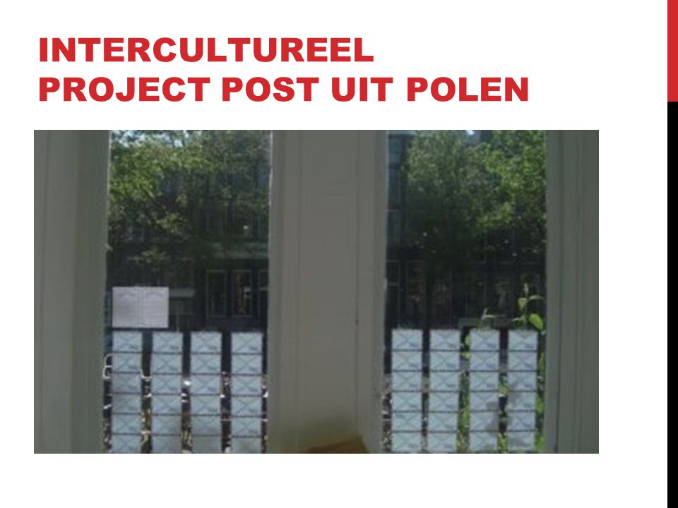 INTERCULTUREEL PROJECT POST UIT POLEN