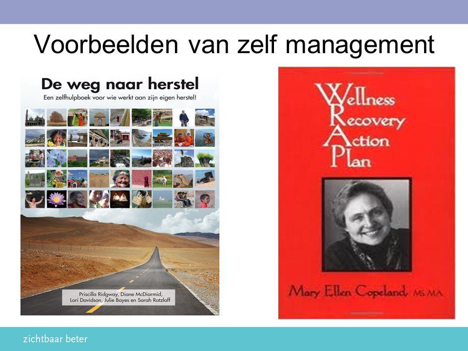 Voorbeelden van zelf management