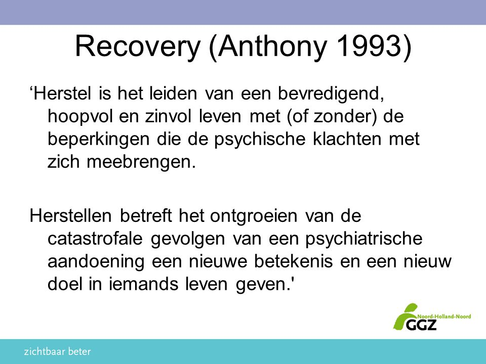 Recovery (Anthony 1993)