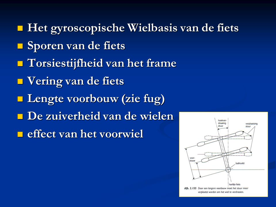 Het gyroscopische Wielbasis van de fiets