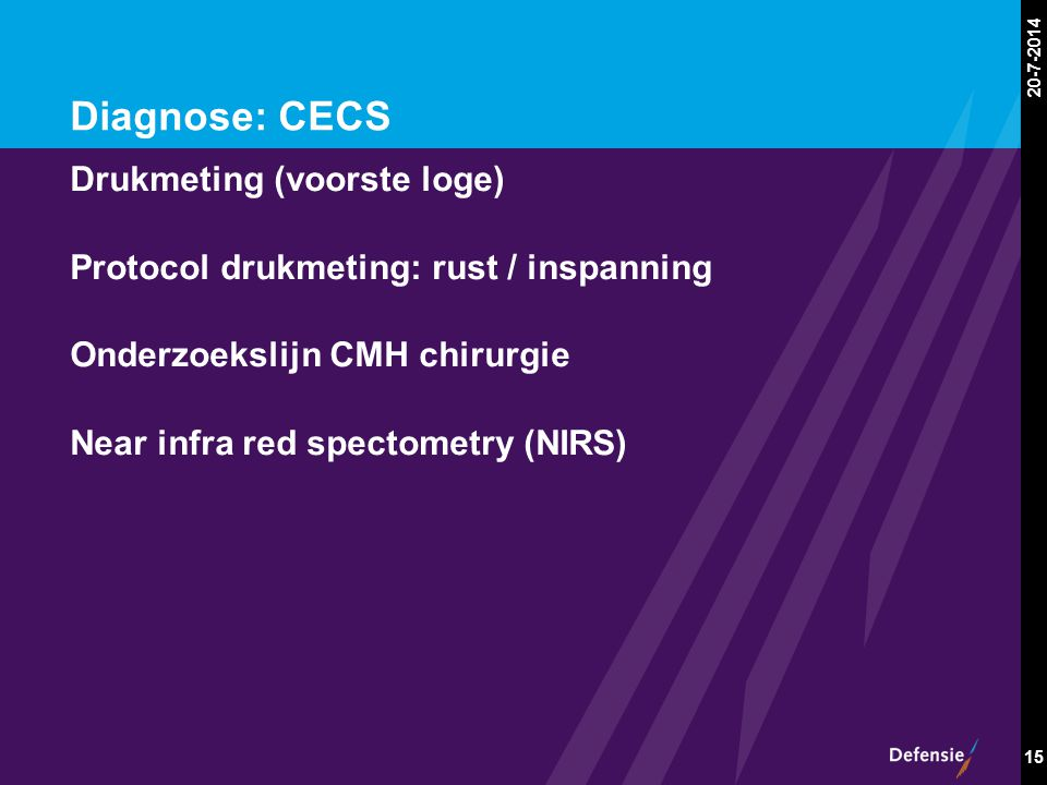 Diagnose: CECS Drukmeting (voorste loge)