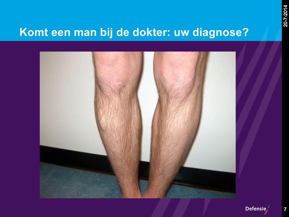 Komt een man bij de dokter: uw diagnose