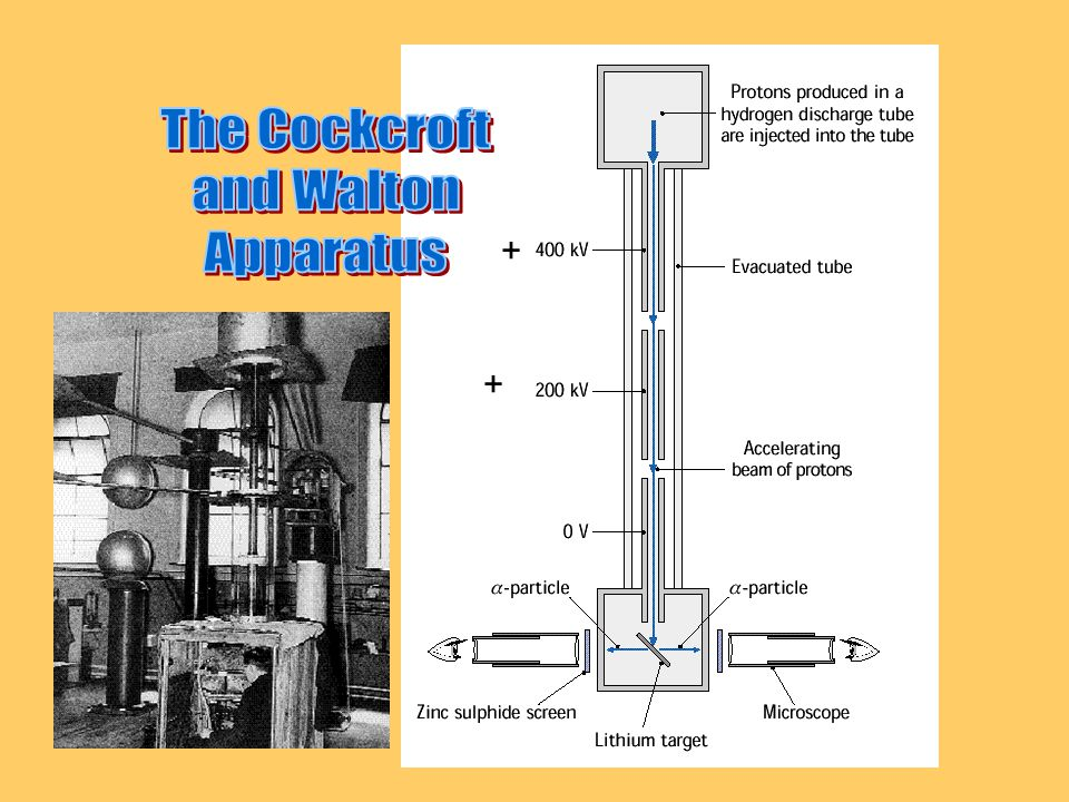 The Cockcroft and Walton Apparatus + +
