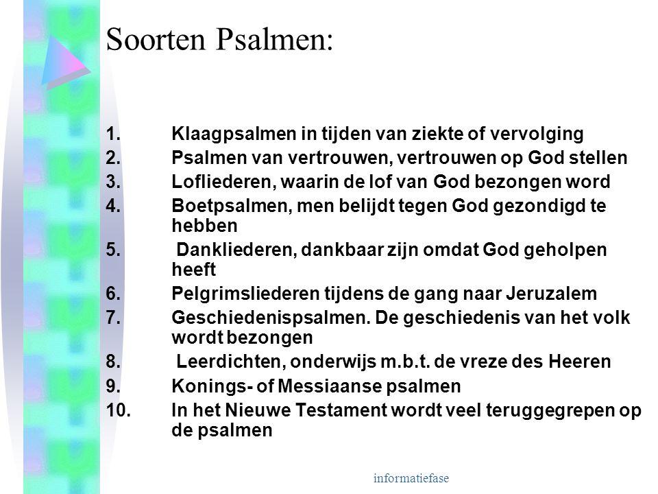 Soorten Psalmen: 1. Klaagpsalmen in tijden van ziekte of vervolging