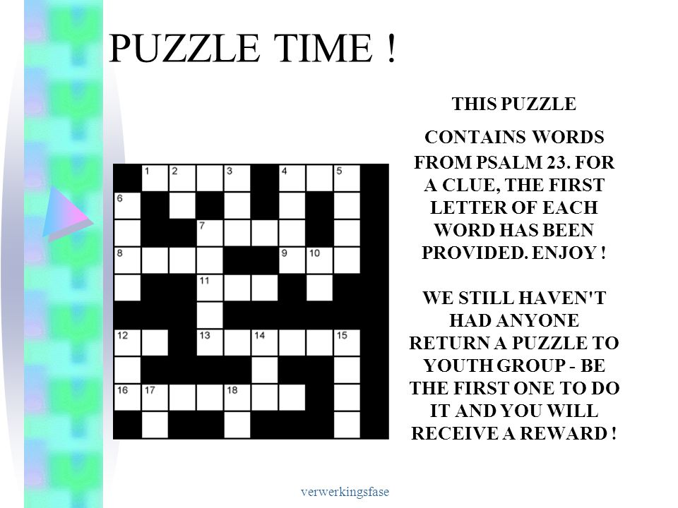 PUZZLE TIME !