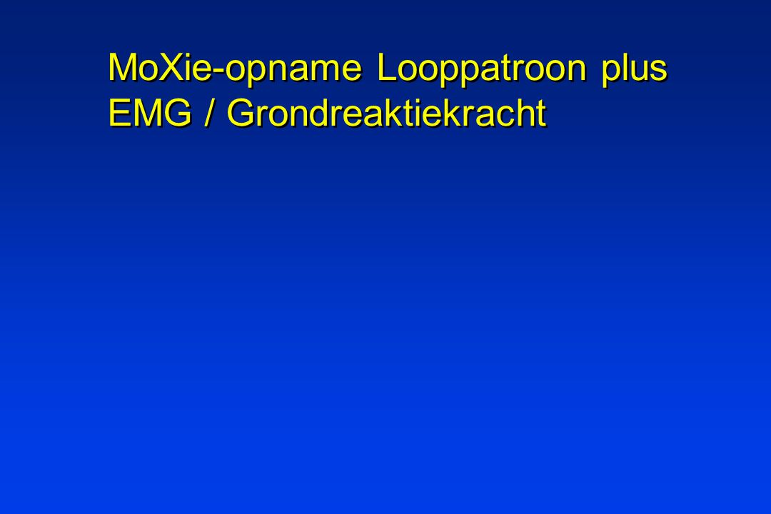 MoXie-opname Looppatroon plus EMG / Grondreaktiekracht