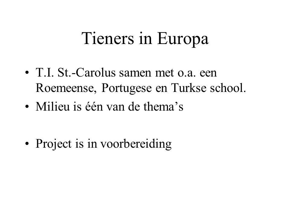 Tieners in Europa T.I. St.-Carolus samen met o.a. een Roemeense, Portugese en Turkse school. Milieu is één van de thema's.