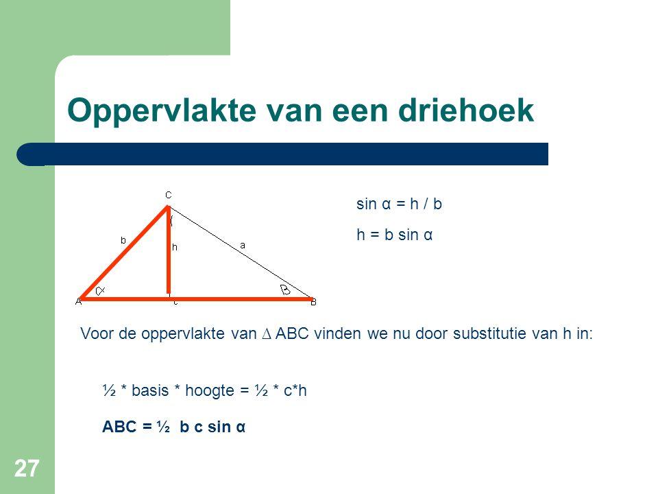 Oppervlakte van een driehoek