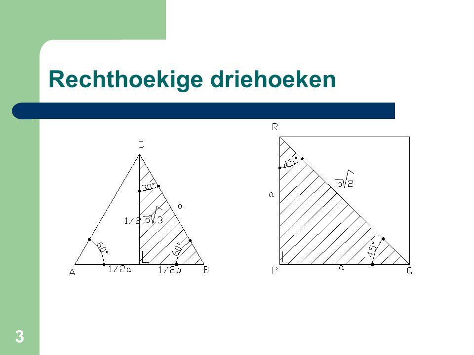 Rechthoekige driehoeken