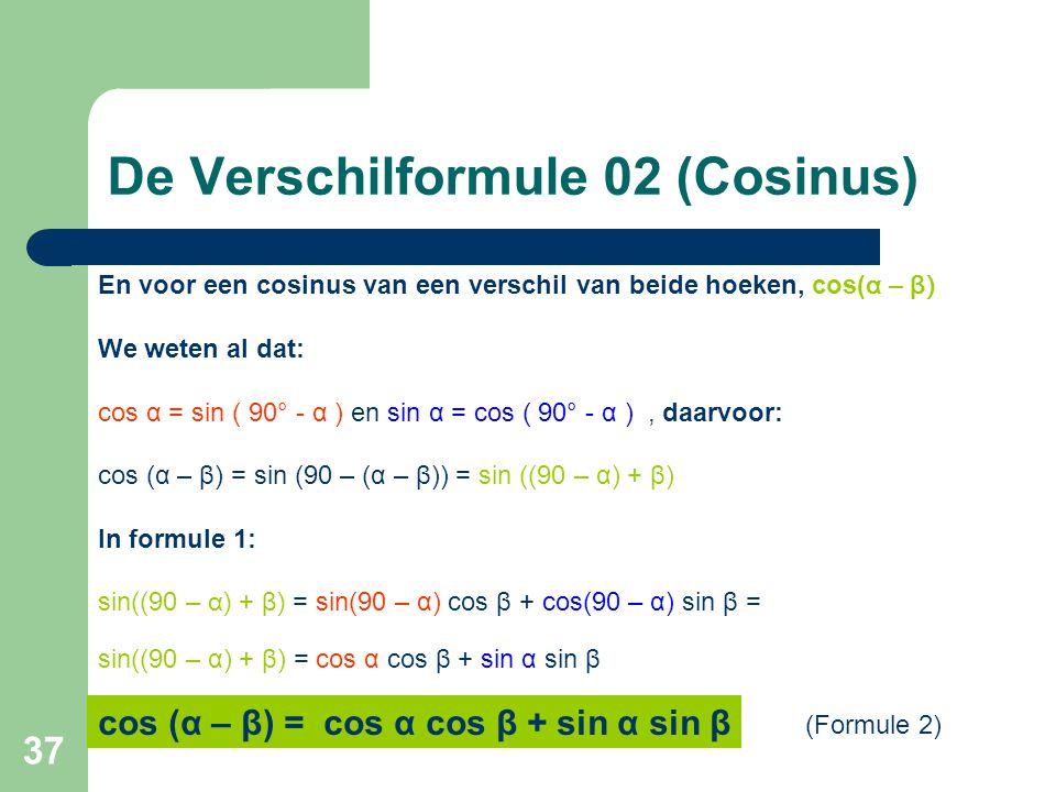 De Verschilformule 02 (Cosinus)