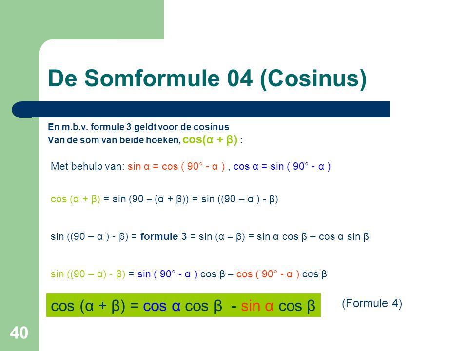 De Somformule 04 (Cosinus)