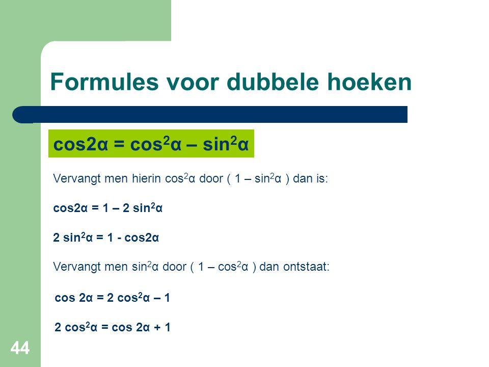 Formules voor dubbele hoeken