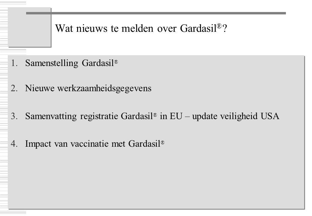 Wat nieuws te melden over Gardasil®