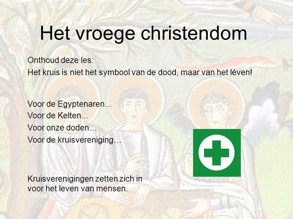 Onthoud deze les: Het kruis is niet het symbool van de dood, maar van het léven! Voor de Egyptenaren...