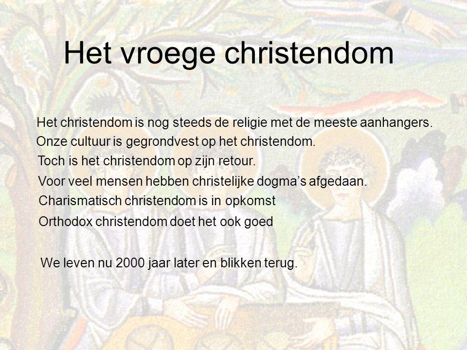 Het christendom is nog steeds de religie met de meeste aanhangers.