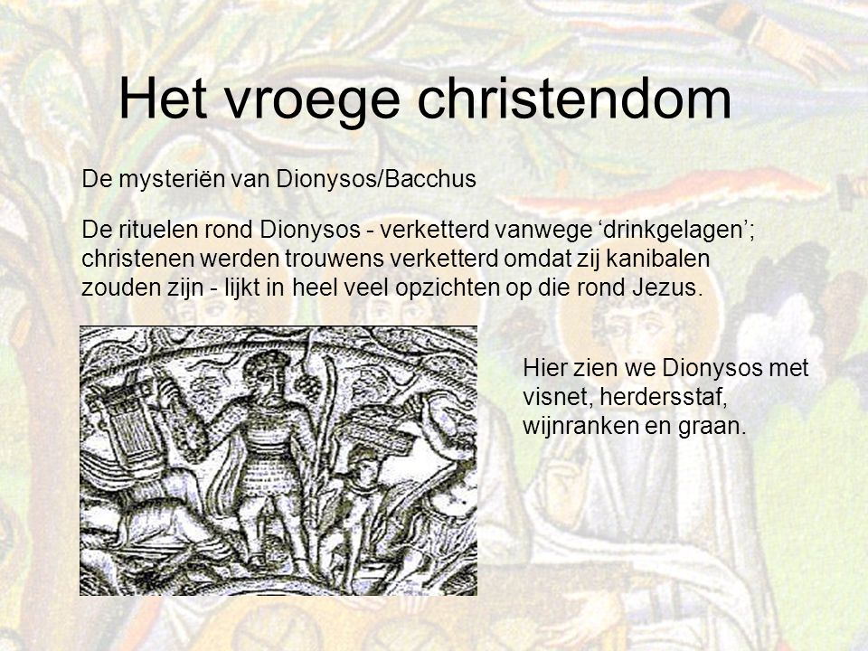 De mysteriën van Dionysos/Bacchus