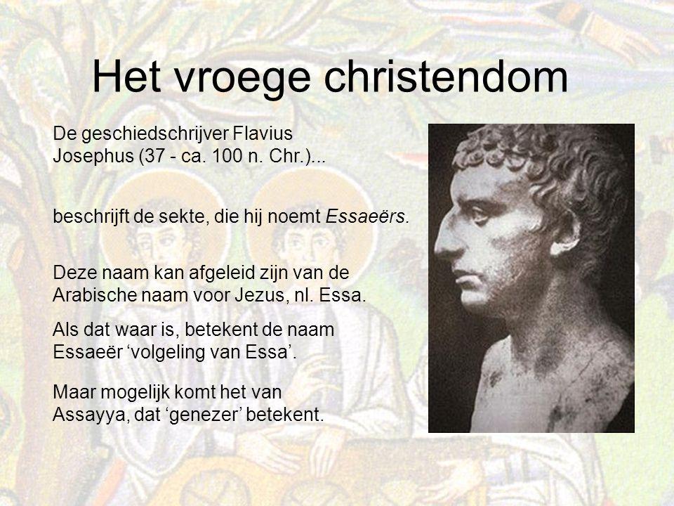 De geschiedschrijver Flavius Josephus (37 - ca. 100 n. Chr.)...