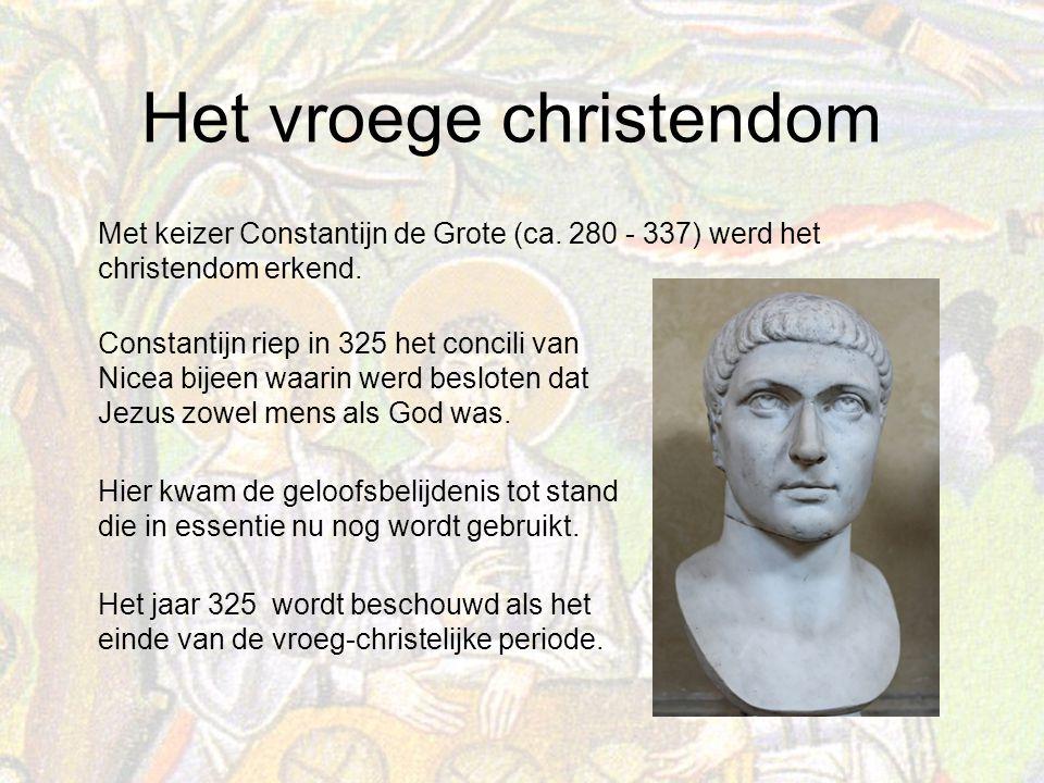 Met keizer Constantijn de Grote (ca
