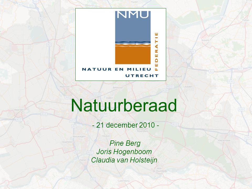 Natuurberaad - 21 december 2010 - Pine Berg Joris Hogenboom Claudia van Holsteijn