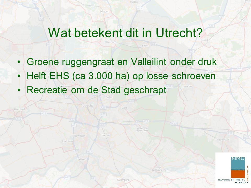 Wat betekent dit in Utrecht