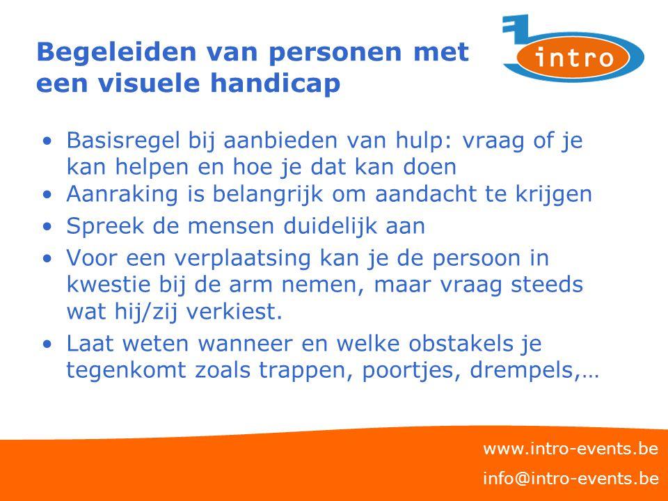 Begeleiden van personen met een visuele handicap